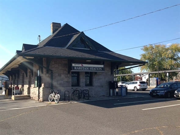 Raritan Train Station Near Our Furnished Apartment Rentals